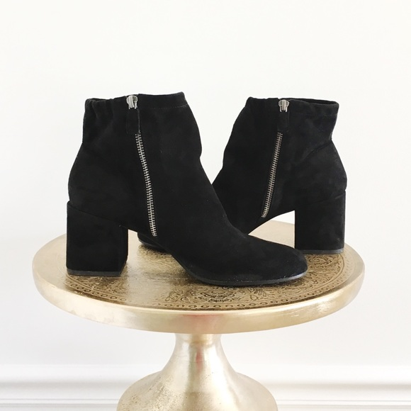 Eileen Fisher Hollis Black Suede Ankle